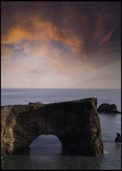 Dyrhólaey Arch on Iceland by Wiberg